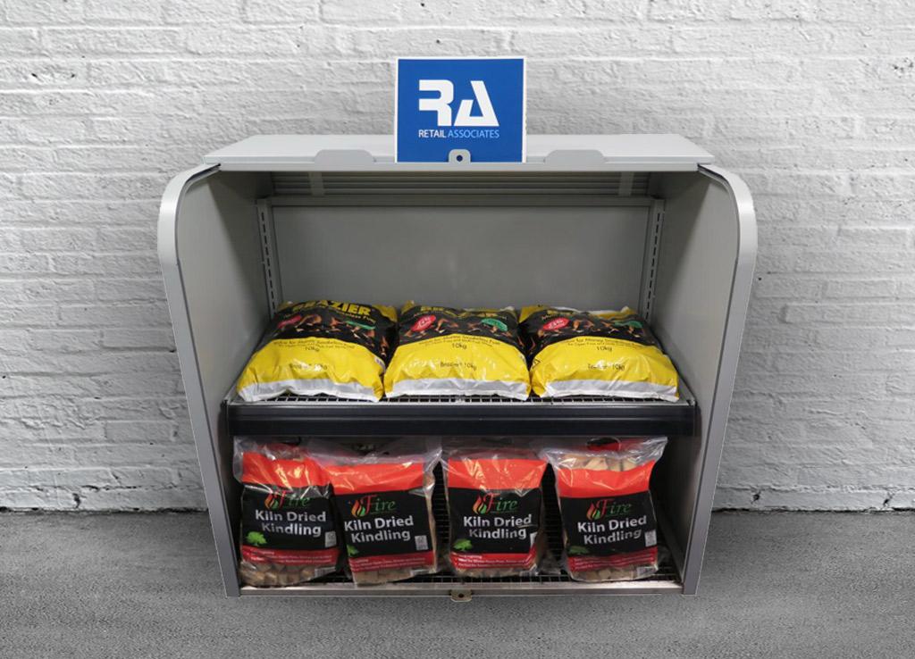 Image of retail associates metal forecourt bunker