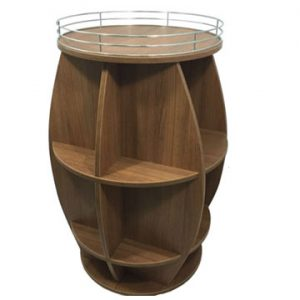 rustic barrel display